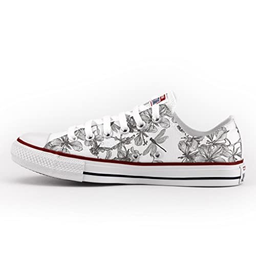 Converse All Star Low Customized and Printed - handmade shoes - Italian Brand - Dragonfly