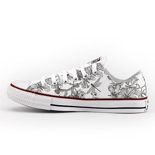 39767e47b1dfa Converse Personalizzate All Star Bassa - scarpe artigianali - Libellule   Amazon.it  Scarpe e borse