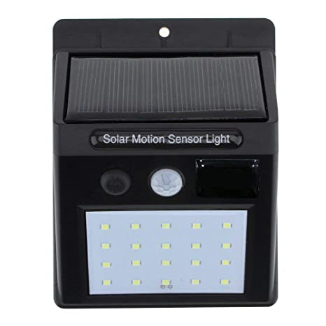 Teconica RM-250 Bright Waterproof Solar Wireless Security Motion Sensor LED Night Light for Outdoor/Garden Wall - Assorted Colour