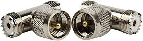 Pack of 1 121AV RF Coax Right Angle Plug for TV Aerial Cable Connector Adaptor