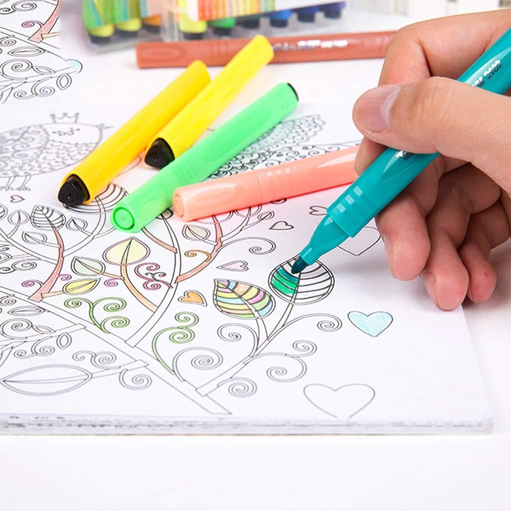 Kaiyu Pintado a Mano Mano a 12 Color 18 Color 24 Color 36 Color 48 Color Cepillo para niños Juego de Pinceles de Acuarela Lavables Principiante (Size : 4) d4ecb5