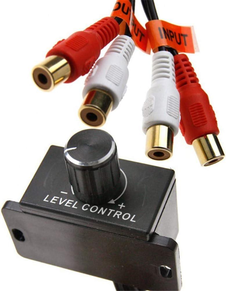 Amplificateur universel de voiture R/égulateur de volume Haut-parleur Contr/ôleur de basse Amplificateur audio de voiture R/églage du son Amplificateur de subwoofer 27,5 cm 12 V