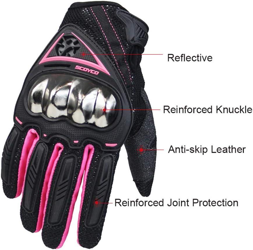 M SCOYCO Woman Motorcycle Gloves Armor Breathable Female Glove Anti-skid MBX//MTB//ATV Sport Pink Dirt Bike Gloves