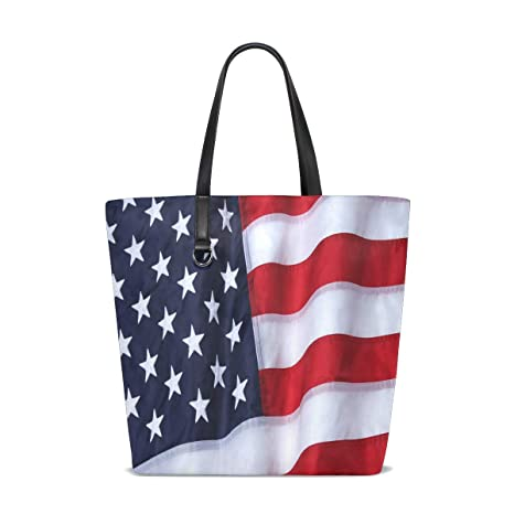 Amazon.com | Outdoor Nylon American Flag Tote Bag Purse ...