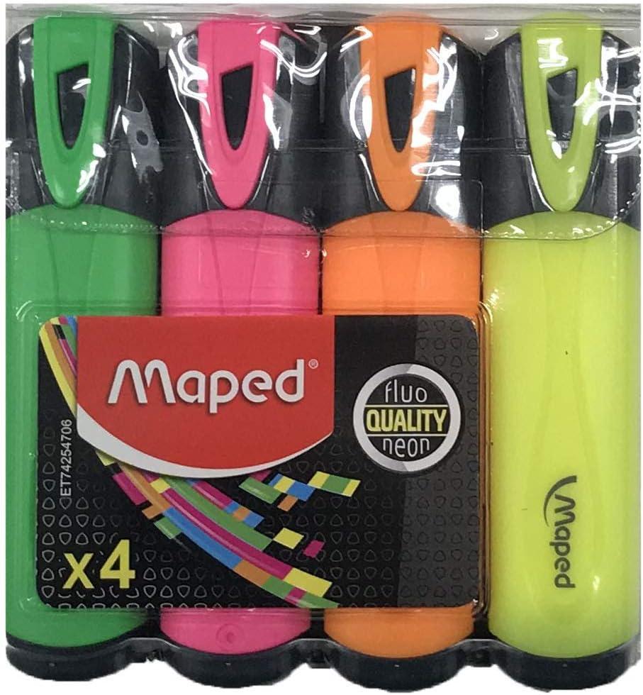 Maped Helix USA 1532724 colori assortiti Evidenziatore fluorescente confezione da 4