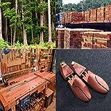 Ollieroo Men's Shoe Trees Twin Tube Adjustable Red