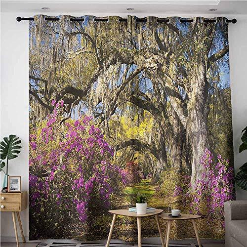 - XXANS Grommet Curtains,Landscape,Flowers in Charleston,Energy Efficient, Room Darkening,W120x96L