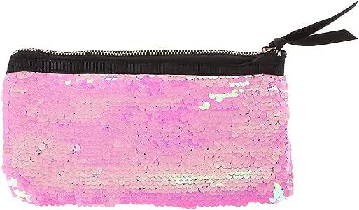 Tandou Estuche de lápices de colores reversible con lentejuelas, bonito estuche escolar suministros de papelería, color rosa: Amazon.es: Oficina y papelería