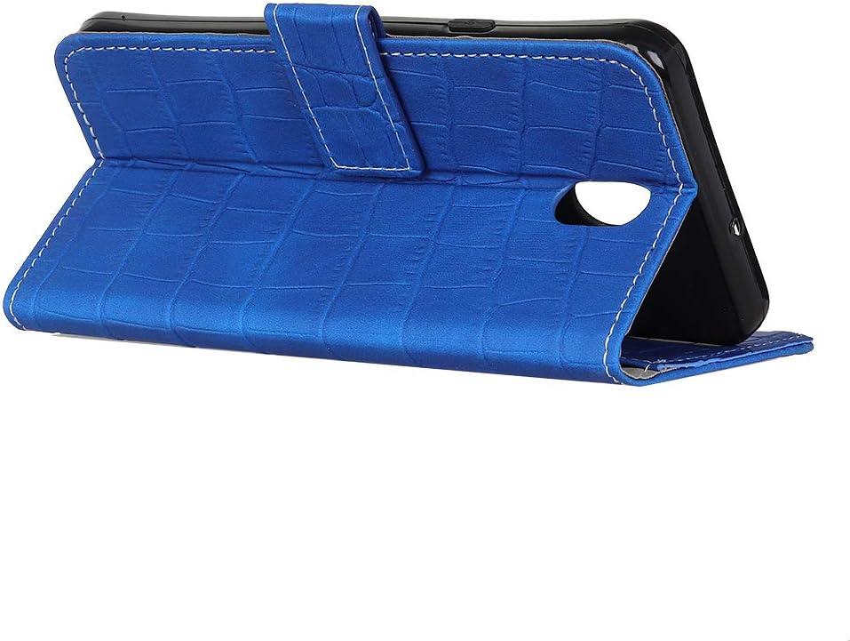 avec Verre Tremp/é Bleu Fatcatparadise Compatible Nokia 1 Coque PU Cuir Flip Magn/étique Conception De Crocodile Cover Case Wallet Portefeuille avec Pochettes Case