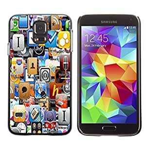 Graphic4You iOS AppStore App World Applications Design Hard Case Cover for Samsung Galaxy S5