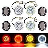 """Amazicha 2"""" LED Turn Signals , Bullet Style 1157 White Amber Front Turn Signal Bulb + 1157 Red Rear Turn Signal Light…"""