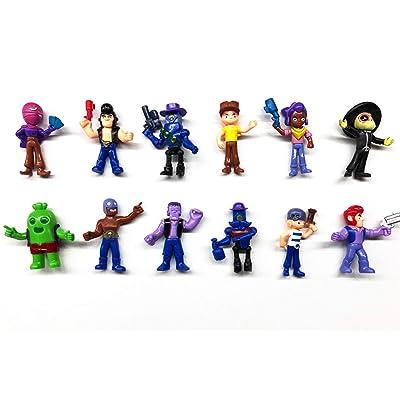12 unids / Lote Brawl Stars Figura de Acción PVC Modelo Juguetes 8 CM: Juguetes y juegos