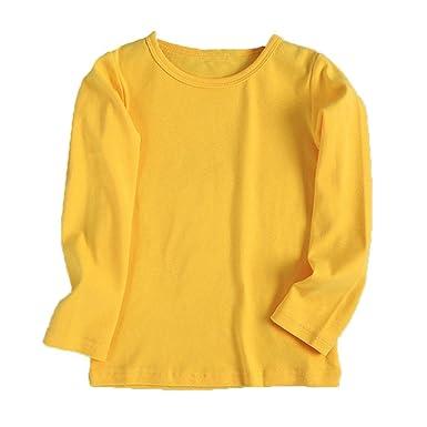 8cccf5a6ecaa8 Tonsee 子供服 男の子 女の子 トップス 長袖 カットソー Tシャツ ブラウス 無地 ベーシック キッズ服 赤ちゃん