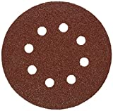 "Bosch SR5R045 5"" Hook & Loop Sanding Disc, 8-Hole, Red, 40 Grit 50 Pack"