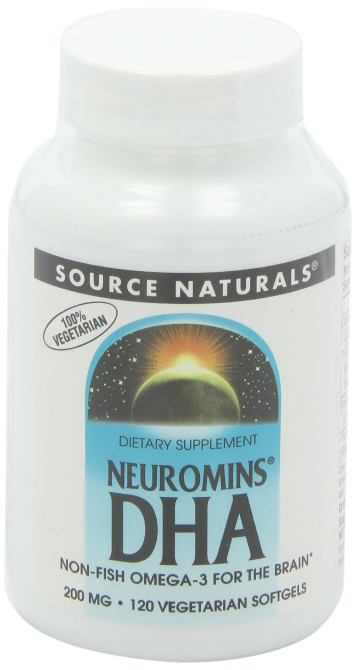 Source Naturals Neuromins DHA 200mg, Non-Fish Omega-3 for The Brain,120 Softgels