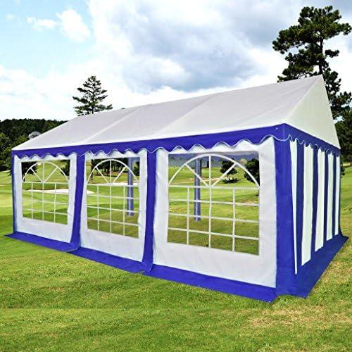 Festnight- Carpa de Jardín para Fiestas de PVC 4x6 m Azul y Blanco ...