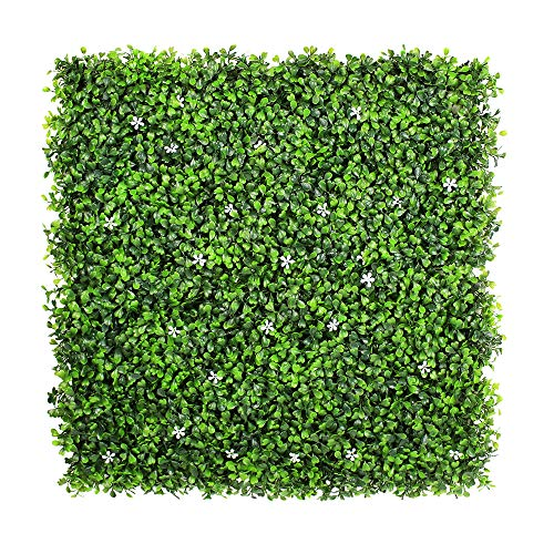 (ULAND Artificial Boxwood Hedges Panels, Faux Plant Ivy Fence Wall Cover, Outdoor Privacy Fence Screening Garden Decoration)