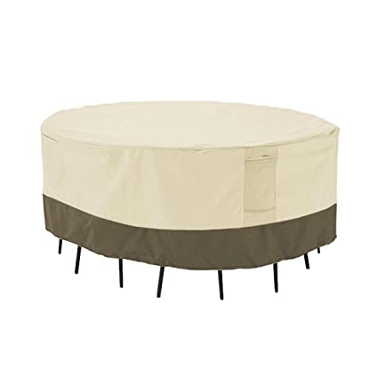 Amazon.com  PHI VILLA Patio Round Table \u0026 Chair Set Cover Durable Water Resistant Outdoor Furniture Cover with Pop-up Supporter Large  Garden \u0026 Outdoor  sc 1 st  Amazon.com & Amazon.com : PHI VILLA Patio Round Table \u0026 Chair Set Cover Durable ...