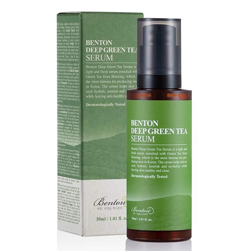 BENTON Deep Green Tea Serum 30ml (1.01 fl.oz.) - Nourishing & Hydrating Facial Serum for Oily and Sensitive Skin, Skin Soothing & Clearing
