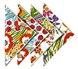 Cloth Napkins 18 Inches Linen Napkins Table Linens Cotton Fabric Set of 12 Garden Floral