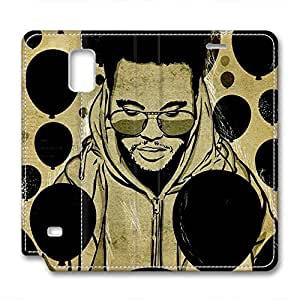 iCustomonline Leather Case for Samsung galaxy Note 4, The Weeknd Ultimate Protection Leather Case for Samsung galaxy Note 4