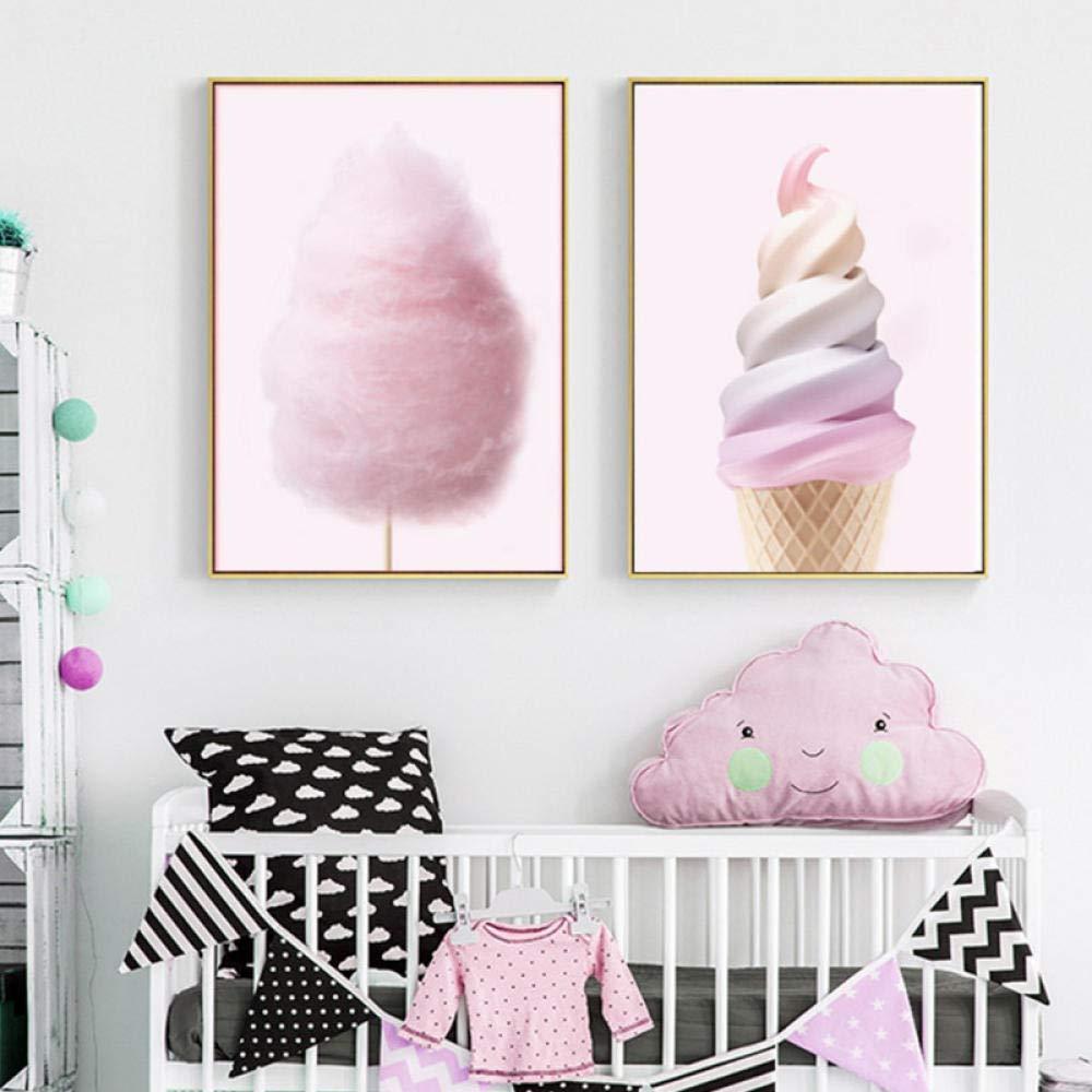 Amazon com: wymhzp Nordic Canvas Painting Art Pink