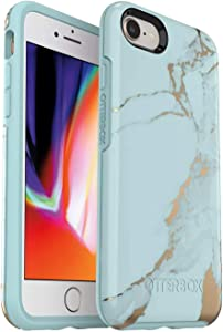 OtterBox Symmetry Series Slim Case for iPhone SE (2020), iPhone 8, iPhone 7 (NOT Plus) Non-Retail Packaging - Teal Marble