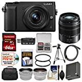 Panasonic Lumix DMC-GX85 4K Wi-Fi Digital Camera & 12-32mm (Black) with 45-150mm Lens...