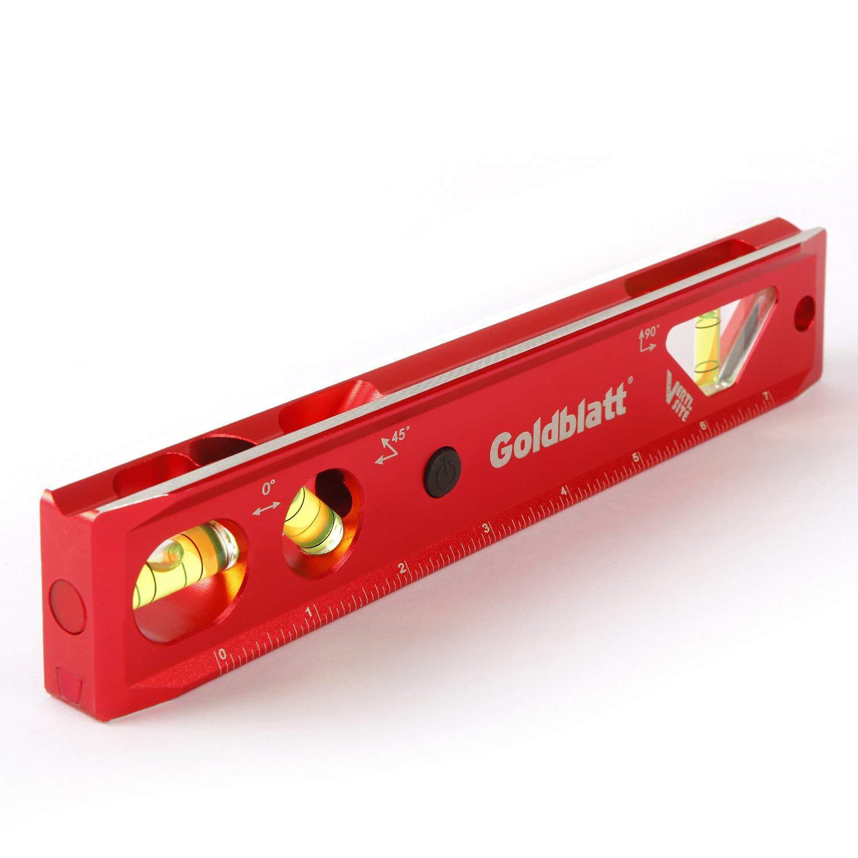 Goldblatt Lighted 9in. Aluminum Verti. Site Torpedo Level