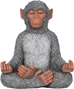 Meditation Monkey Stretching Monkey Statue-Resin Zen Animal Yoga Figurine for Outdoor Lawn Decor for Flower Beds, Fairy Gardens, and More