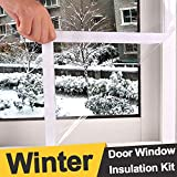 Loobani Extra Large and Heavy Duty Door Window Insulation Kit, Indoor Outdoor Patio Weatherproofing, 1.2M by 2.5M