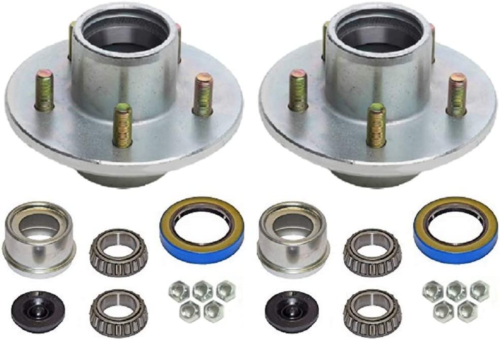 BT-8 2K Lbs 1 in. 2-Pack Trailer Wheel Hub Complete Kit Galvanized 5 on 4.5