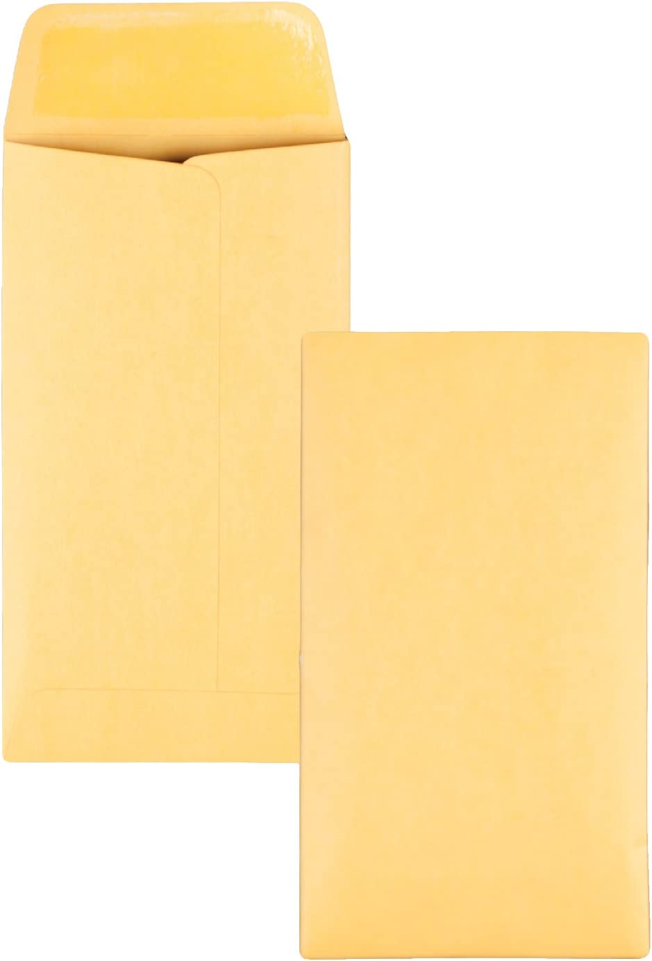Quality Park #6 Coin Envelopes, 3 3/8 x 6, Gummed, Small Parts, Jewelry & Seed Envelopes for Garden, Office, 28 lb Brown Kraft, 500 per Box (QUA50662)