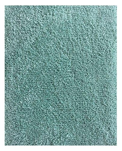 Mohawk Home Cut To Fit Ribbon Saxony Plush Bath Carpet, Sea Spray, 5 by 6 Feet