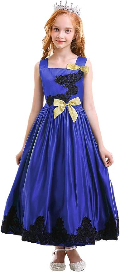 Papillon broderie fleur fille robe princesse robe de bal pour mariage anniversaire