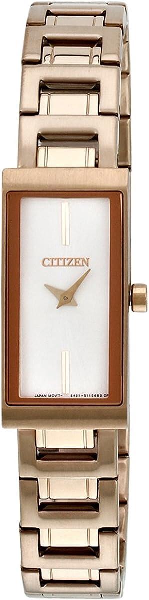 Citizen EZ6333-52A - Reloj de Cuarzo para Mujer, con Correa de Acero Inoxidable, Color Dorado