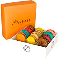 Le Parfait Paris Macaron Variety Pack - Heavenly Gourmet French Meringue-Based Dessert Set - Baked and Delivered Fresh - Delicious Luxury Gift, Party Favor, & Sweet Snack - Box of 12 Assorted Macarons
