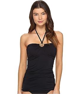 780abcf1cb0e2 MICHAEL Michael Kors Womens Villa Del Mar Logo Ring Shirred Bandini Top