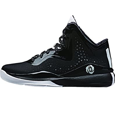 631cbb257c6a adidas D Rose 773 III Juniors Basketball Shoe 4 Black-White