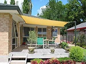 Petra's 11.5 Ft. X 11.5 Ft. Square Sun Sail Shade. Durable Woven Outdoor Patio Fabric w/Up To 90% UV Protection. 11.5x11.5 Foot. (Desert Sand)