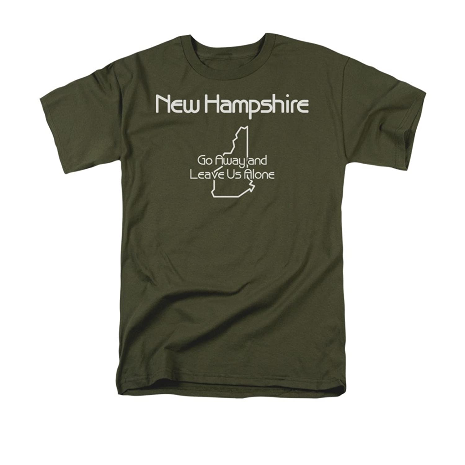 New Hampshire Go Away, And Leave Us Alone Funny State Saying Adult T-Shirt