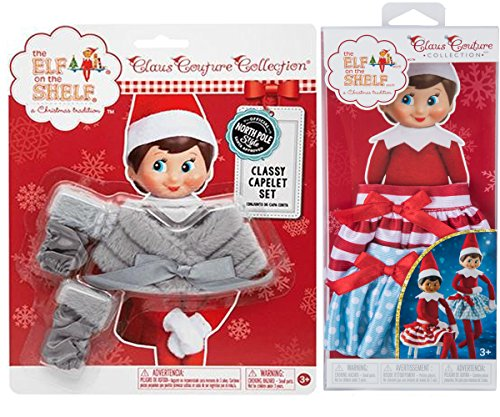 The Elf on the Shelf Claus Couture Collection Bundle: Classy Capelet Set and Twirling
