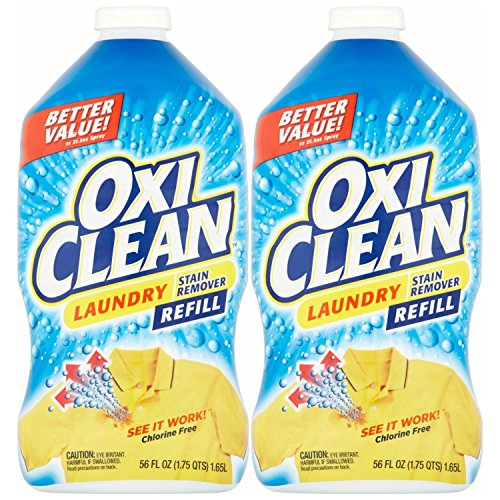 OxiClean Laundry Stain Remover Refill, 56 Oz (pack of 2)