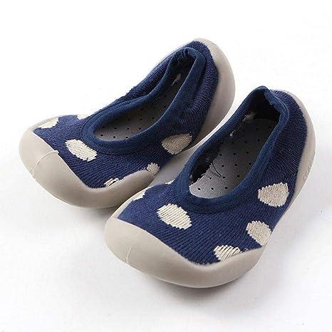 Aolvo - Mocasines para bebés. Zapatos tipo calcetín de algodón transpirable con suela de goma antideslizante para niños ...