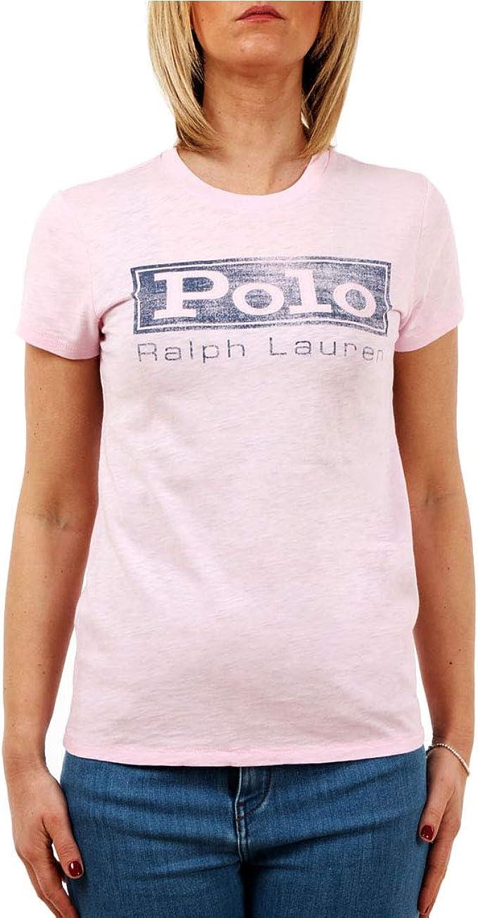 Polo Ralph Lauren Maglietta in Jersey con Grafica Donna Mod ...