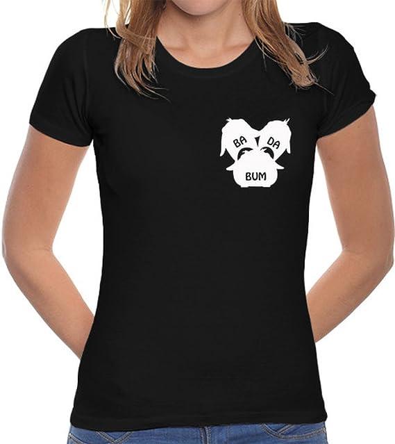 latostadora Camiseta Badabum Logo Blanco - Camiseta Mujer Corte clásico Negro Talla S: Proke: Amazon.es: Ropa y accesorios