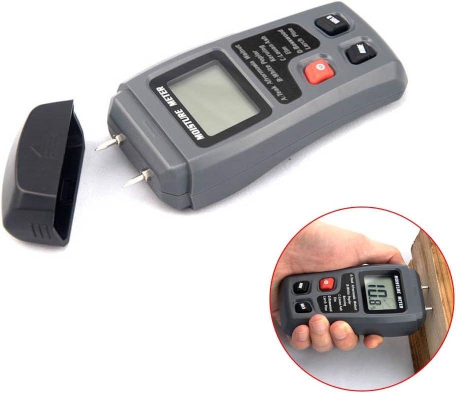 2-Pin LCD Digital Wood Moisture Meter Humidité Testeur Bois Humide Détecteur nouveau