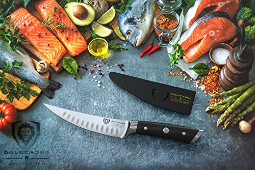 """DALSTRONG Gladiator Series Fillet & Boning Knife- 6""""- German HC Steel - Curved Blade - With Sheath"""