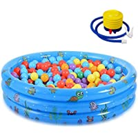 debieborahtoys Inflatable Kiddie Pool Round Baby Swimming Pool with 3 Rings Inflatable Summer Swimming Pool for Kids…