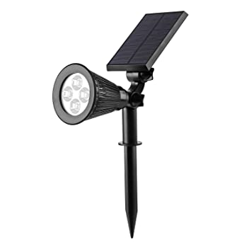 LED Solar Strahler Solarleuchte Solarbetriebene Garten Licht Landscape  Beleuchtung Spotlight Warmweiß 3th Version Superhelle